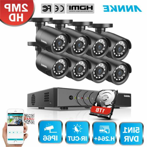 ANNKE 8CH/4CH 1080P Lite DVR 2MP 2500TVL Security
