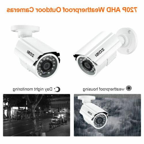 ZOSI DVR 720P Night Vision CCTV Security Camera