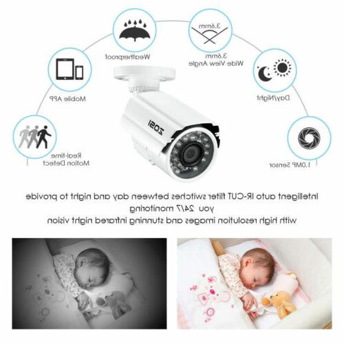 ZOSI 8CH HD DVR 720P Home Outdoor Night Vision CCTV Security Camera