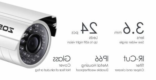 ZOSI 8CH DVR Night Vision CCTV System Security