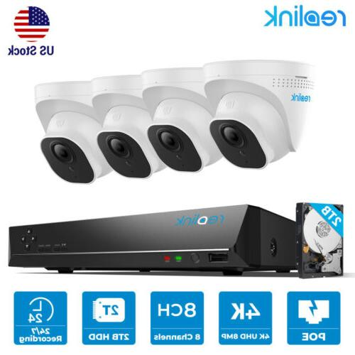 8mp 8ch poe security camera system 4k