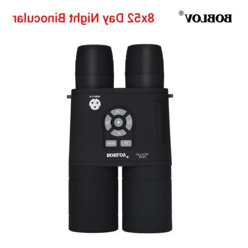 8x52 optical infrared night vision binocular telescope