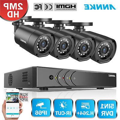 ANNKE 2MP HD-TVI System 8CH 1080P Lite DVR Security Camera 2000TVL Night  Vision