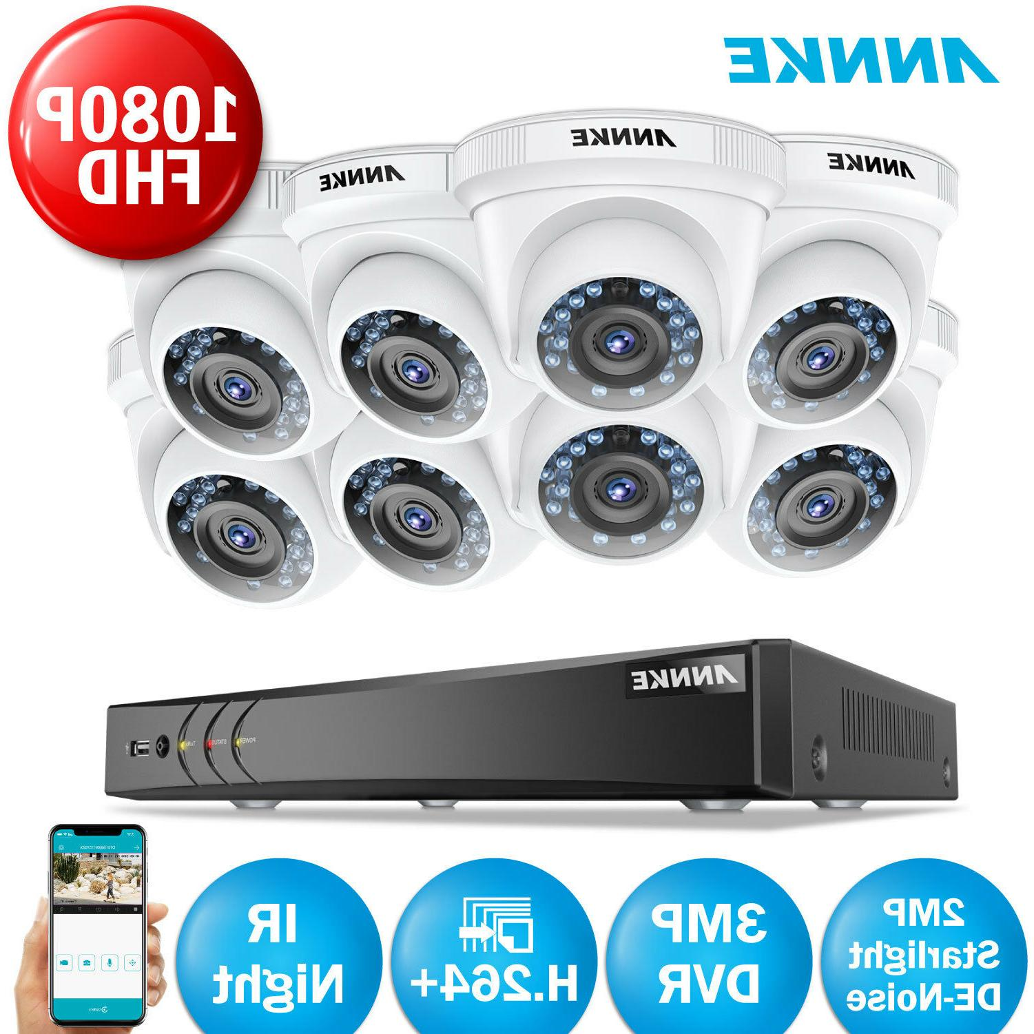 ANNKE 3MP 8CH DVR 1080P CCTV Home System Night Vision