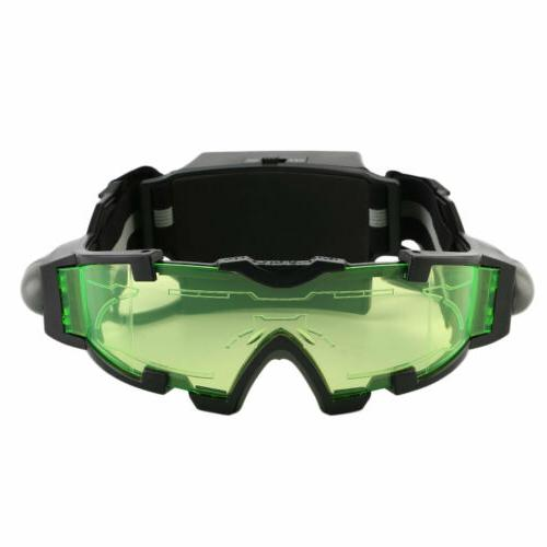 Adjustable LED Night Vision Goggles With Flip-Out Lights Eye