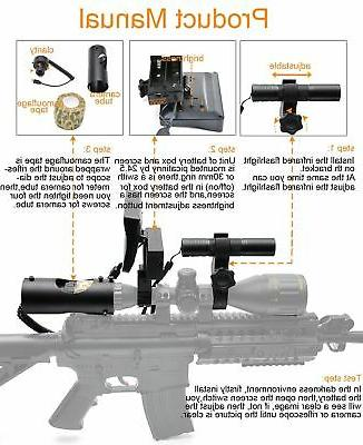 Bestsight Rifle Vision Scope and Flashlight for Riflescope...