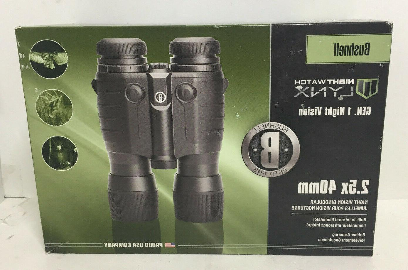Bushnell LYNX Gen 1 Night Vision Binocular, 2.5x 40mm
