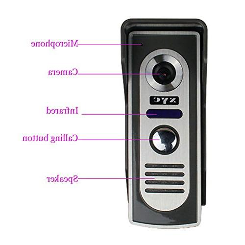 Door Doorbell Kit 1-camera 2-monitor Vision