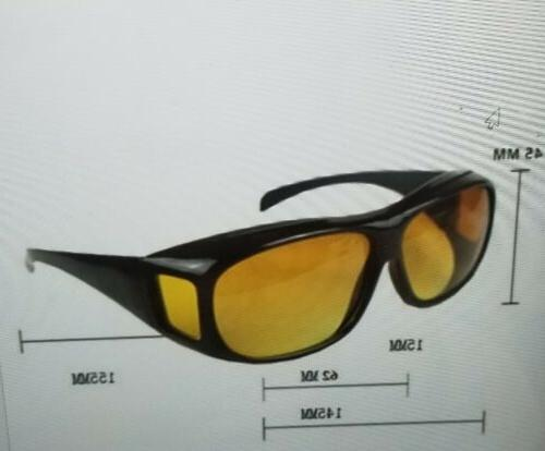 HD Night Driving Wraparound Sunglasses Fits Over Glasses As Seen TV