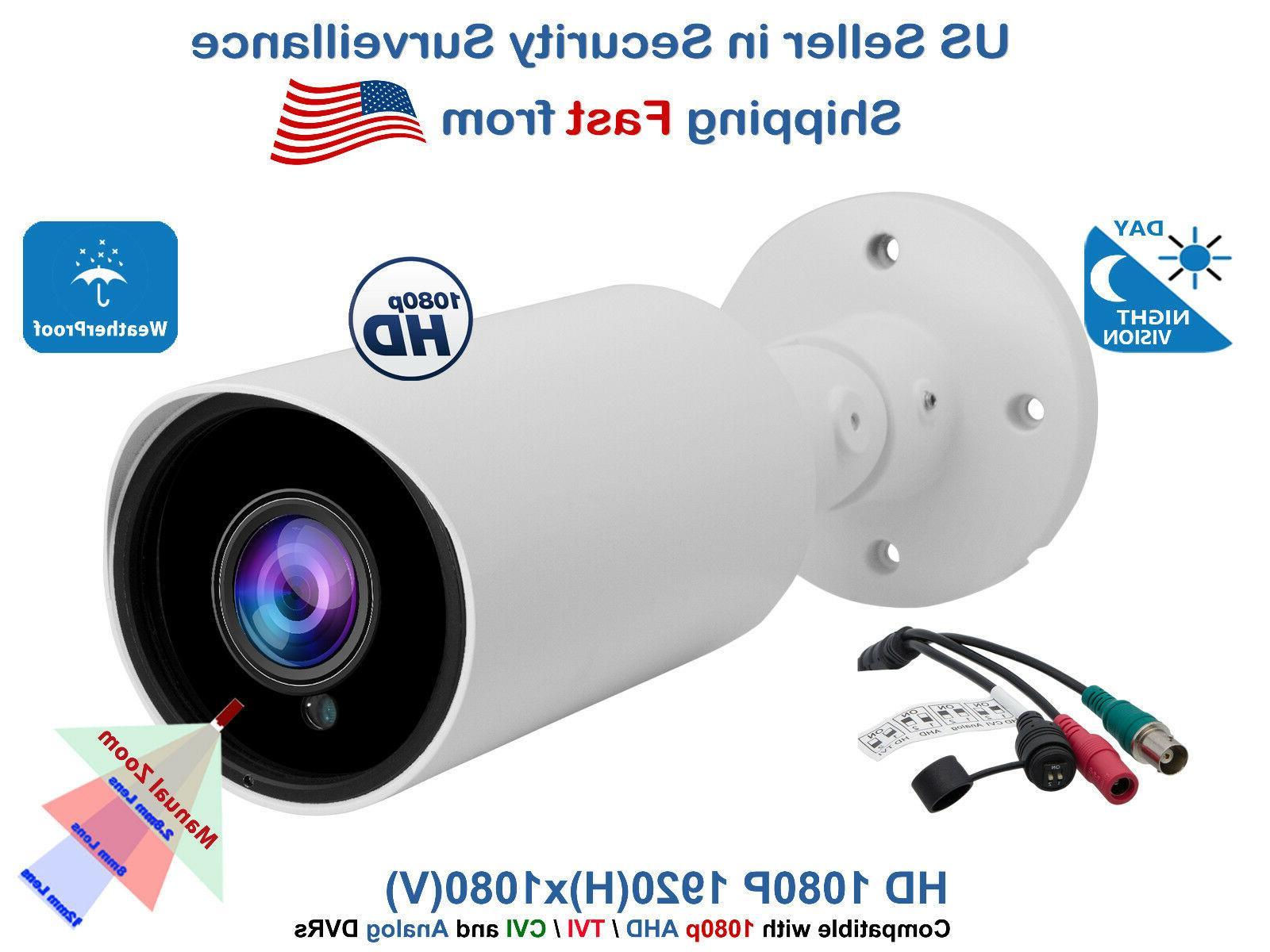 Outdoor CCTV Security Camera 1080p AHD TVI CVI Night Vision