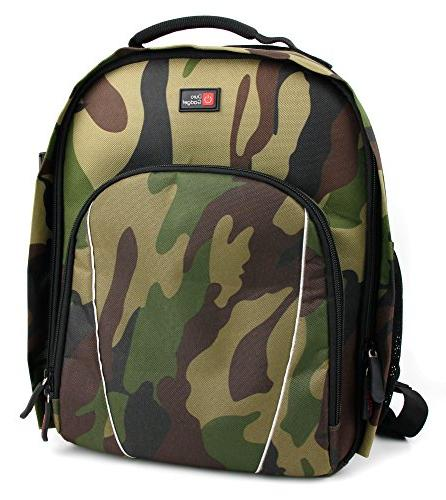 Premium Camouflage Rucksack with & for Night Vision Monocular by DURAGADGET