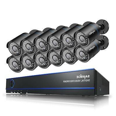 SANNCE 16CH 1080N Video DVR 12x Night Camera System