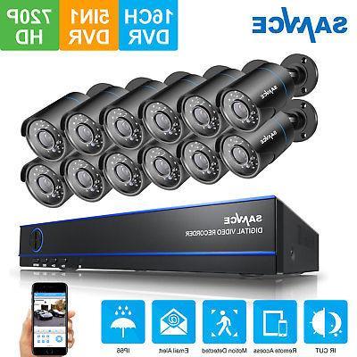 SANNCE 1080N Video DVR Night CCTV Camera System