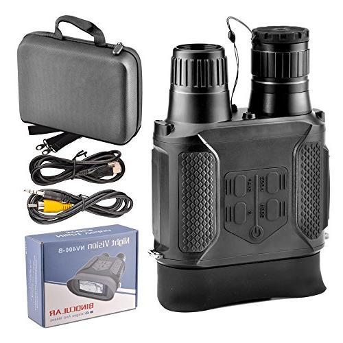 SOLOMARK Vision Binoculars Hunting Infrared Vision Binocular Large Screen Take Day IR Photos & from 400m/1300ft
