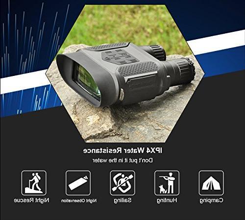 SOLOMARK Night Vision Hunting Binoculars-Digital Infrared Night Vision Hunting with Large Screen Take Day Night IR Photos Video from 400m/1300ft