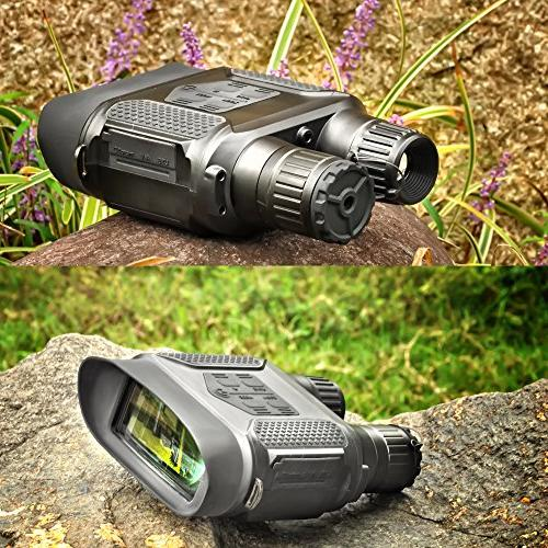 Hunting Vision Binocular with Large Viewing Screen Take Day Night IR Photos & Video from