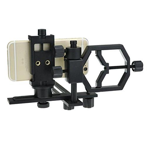 Solomark Universal Deluxe Slr/dslr Adapter and Riflescope- for Iphone Windows Compatible Telescope Microscopes- Get Into Video Image in Tiny