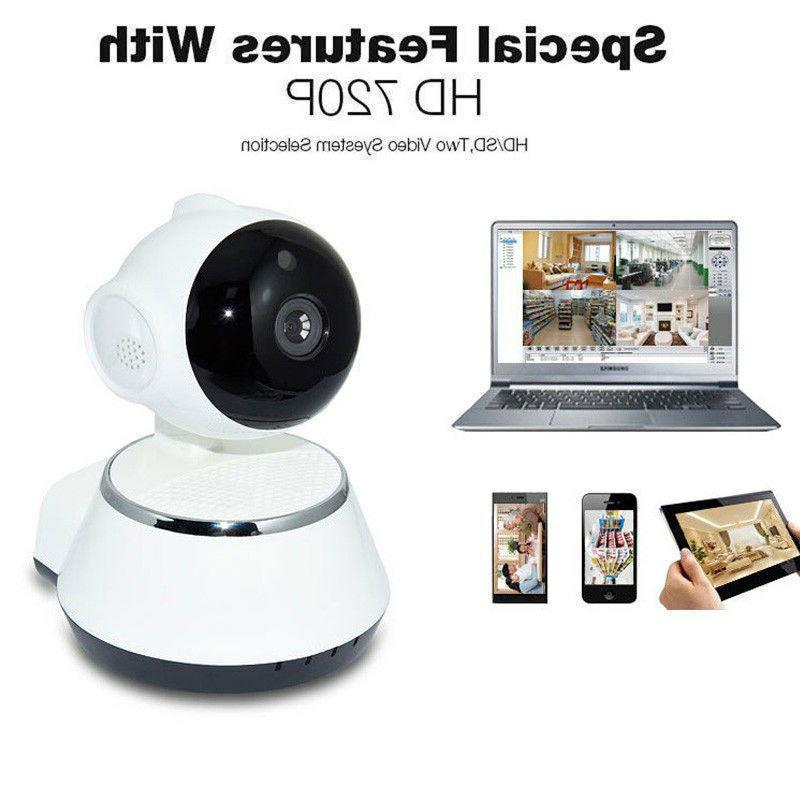 Wireless 720P v380 Smart WiFi Security Camera Home IR Cam Vision