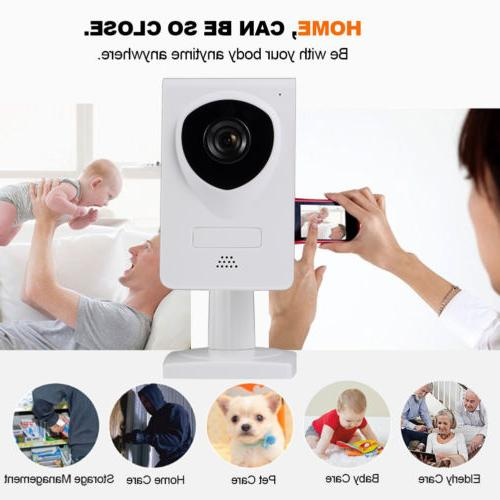 Wireless Wifi 720P Pet Baby Monitor Two Way Audio Night Visi