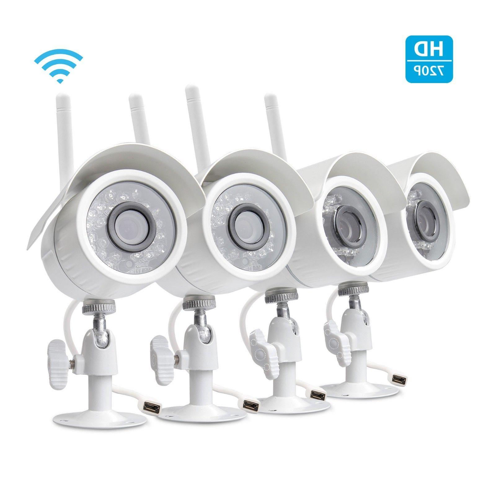 Zmodo 720p HD 4 IP Wireless Outdoor IR Night Vision Home Sec