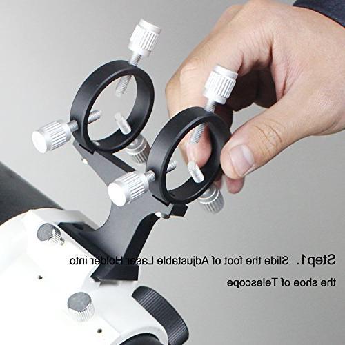 Solomark Adjustable Laser Pointer Bracket - Your Pointer Into a Cool Finder