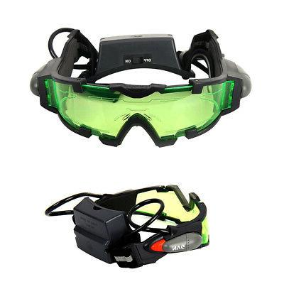 Adjustable Night Vision Goggles Eyeshield Glasses Out Eye