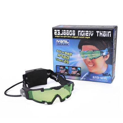 Adjustable LED Night Vision Goggles Eyeshield Out Eye Lens
