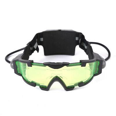 Adjustable LED Night Goggles Out Lights Eye Lens