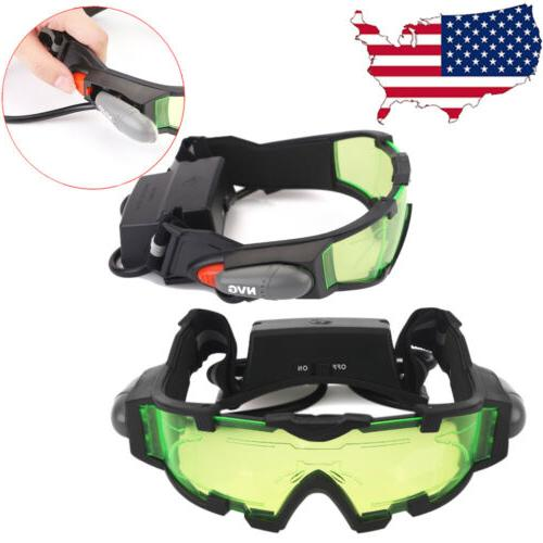 adjustable led night vision goggles eyeshield glasses