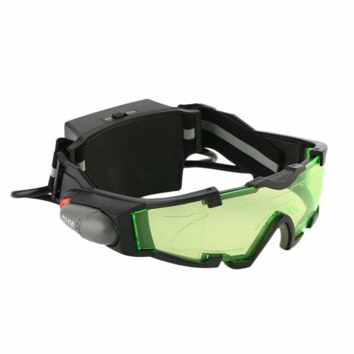Adjustable LED Goggles With Flip-Out Eye Glasses