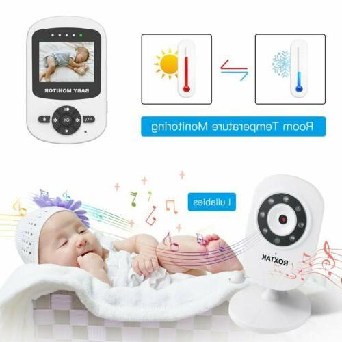 Video Baby Monitor 2-Way Talk Wireless Night BT