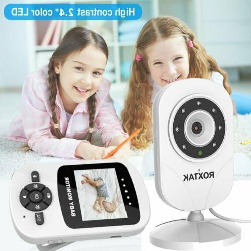 Wireless 2.4G Digital Color LCD Baby Monitor Camera Night Vi