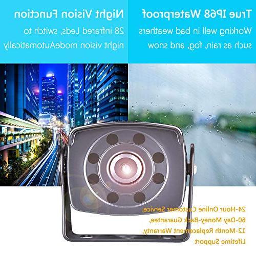 Backup Camera LASTBUS View Night Vision Rear Camera Reversing Remote for Trailer, Bus, Camper, RV,