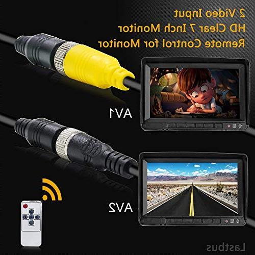 Backup Camera with Monitor, LASTBUS Wide Night Vision Camera 7'' Reversing Monitor Remote for Camper,