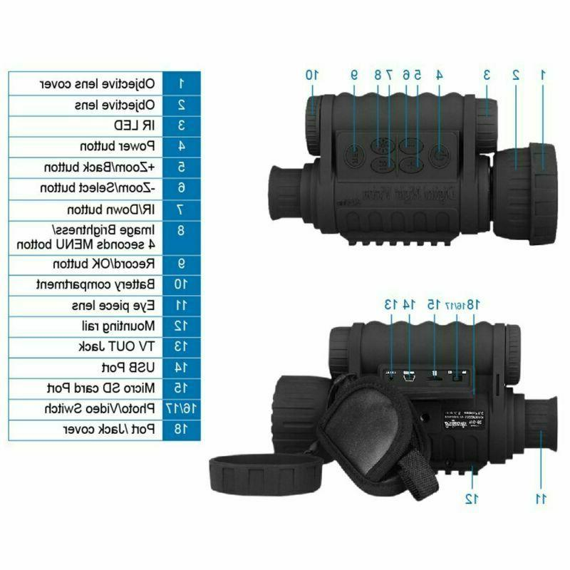 Bestguarder 6X50Mm Night Vision 1.5 Tft And
