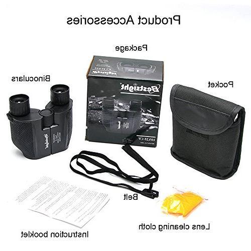 Binoculars Adults - 10×25 Lightweight for Concert,Waterproof Weak Light Vision