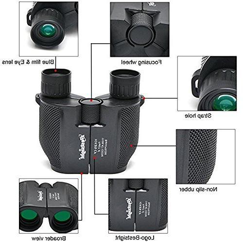 Binoculars for Adults Compact - 10×25 High Lightweight Kids Women Men Concert,Waterproof Vision