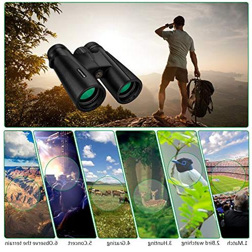 Binoteck for Adults Low Light Night Vision Binoculars for Bird-Watching Travel Concerts Phone Mount Bag