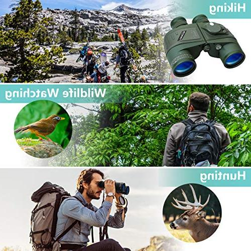 World Optical Marine Night Rangefinder Compass Waterproof BAK4 Floating Birdwatching Hunting Carry and