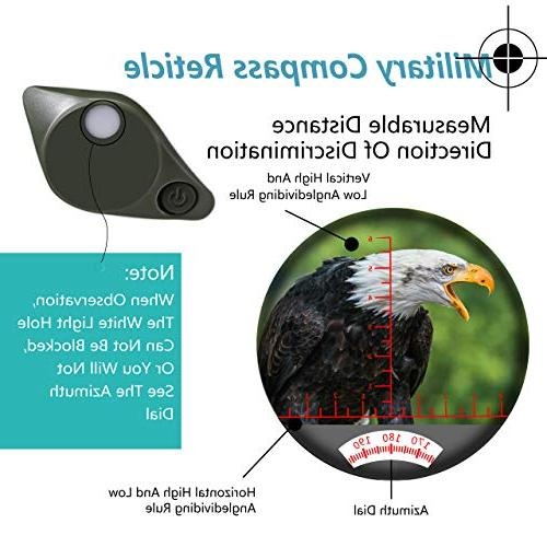 World Optical 10X50 Marine Night Vision and Compass 100% Waterproof BAK4 for Adults for Floating Birdwatching Hunting with Carry