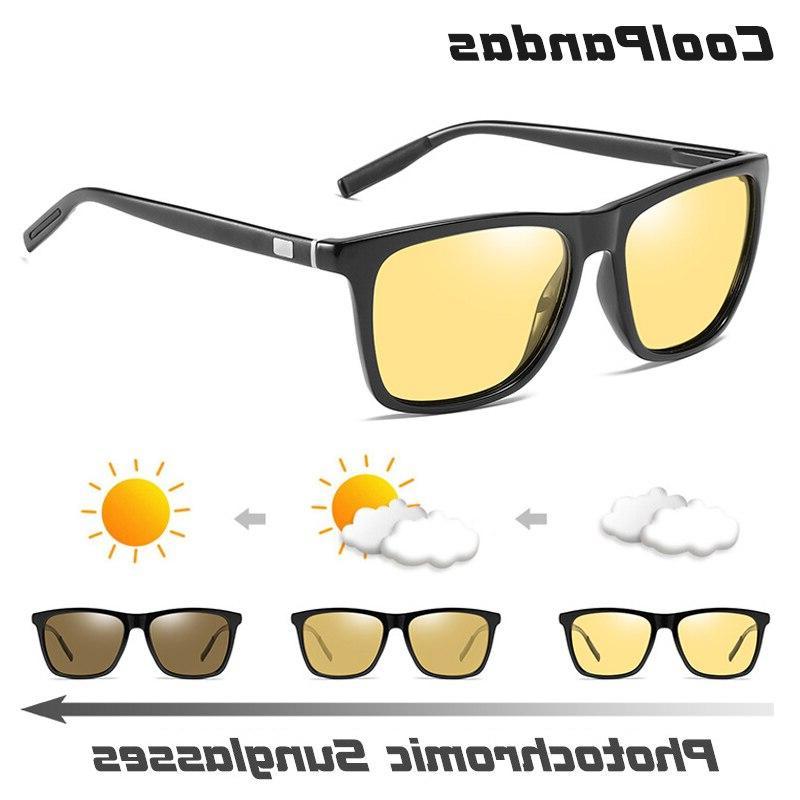 Brand Photochromic Polarized Men Day&<font><b>Night</b></font> Glasses sol