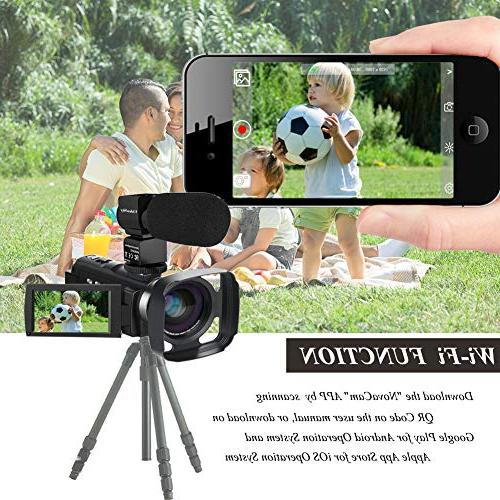 Video Ultra VideoSky Vlogging 48.0MP Touch Screen IR Vision WiFi Recorder with Wide Angle Lens, Remote