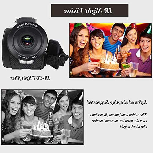 Video Camera Ultra Vlogging Camera Touch Screen IR WiFi Angle Lens, Microphone, Remote Control, Lens