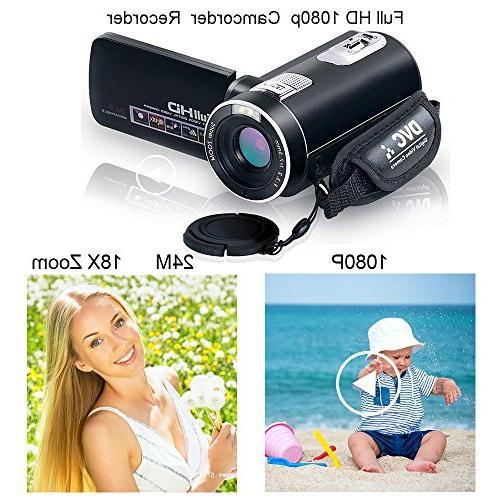 Digital Night Full HD Digital 24.0Mega Pixels 18X Digital Zoom