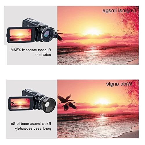 Digital Camcorder Night Vision, WEILIANTE HD Digital Video 24.0Mega Zoom