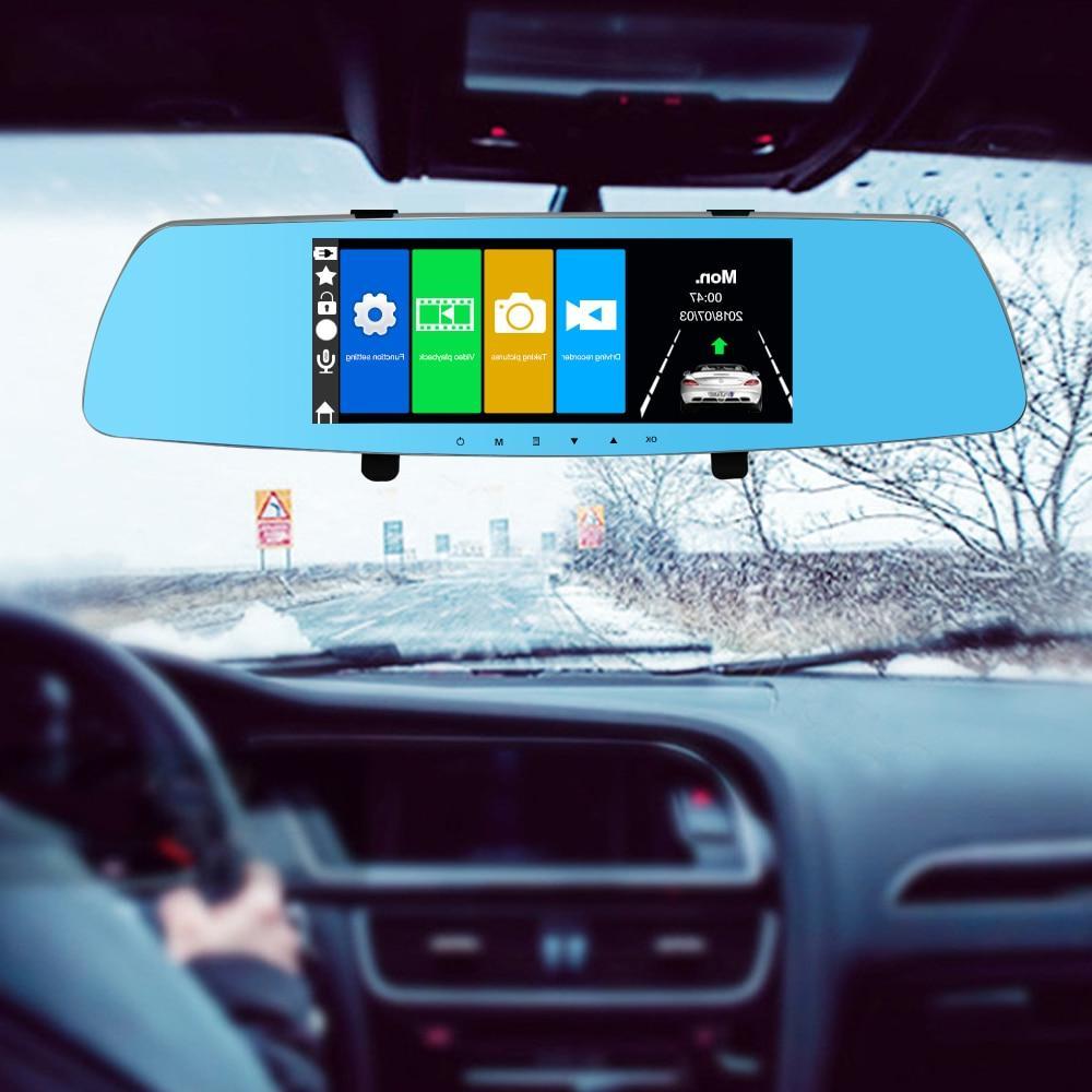 Smartour Car HD 1080P dual lens 7 inch touch screen camera d