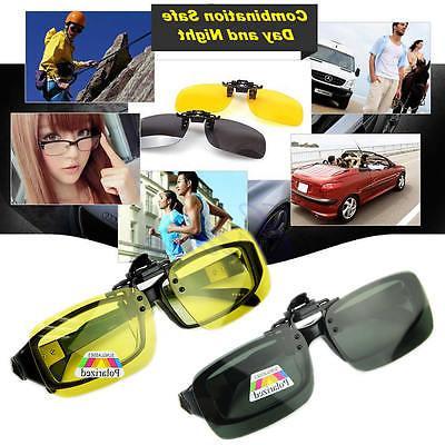 Clip-on Polarized Vision Flip-up Lens Driving Glasses Sunglasses