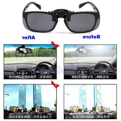 Clip-on Polarized Day Vision Driving Glasses Sunglasses