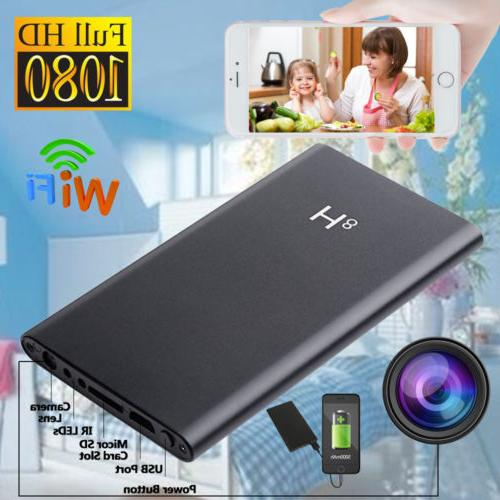 Clock Hidden Camera WiFi HD 1080P Mini Alarm Security Night