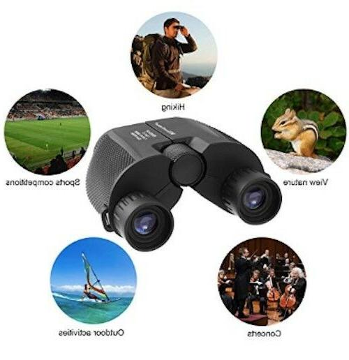 Compact Binoculars, Folding High Powered Portable Binoculars